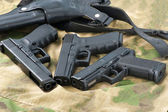 Set of different guns — Stock Photo