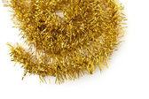 Enfeites de natal dourado. — Fotografia Stock