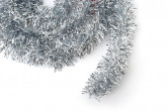 Christmas silver tinsel. — Stock Photo