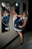 Woman posing in sailor costume — Stock Photo