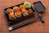 Japanese seafood sushi set — Stock Photo