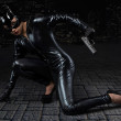 Female in catwoman costume — Stock Photo #66308219