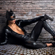 Female in catwoman costume — Stock Photo #66308231