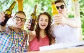 Friends having fun in pub — Stock Photo