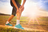 Runner's leg and muscle pain — Stock Photo