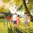 Friends having fun in park — Stock Photo #53280593