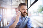Man calling by mobile phone — Stock Photo