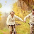 Active seniors on bikes — Stock Photo #59166687