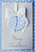 Christmas handmade card with balls — Стоковое фото