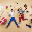 Funny children are playing together — Stock Photo #59285061