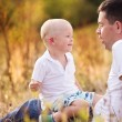Father and son enjoying life together. — Foto Stock #60137055