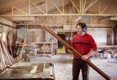 Man carpenter working — Stock Photo