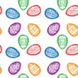 Hand drawn Easter eggs background. — Stock Vector #68239597