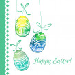 Hand drawn patterned Easter eggs. — Stock Vector #68239677