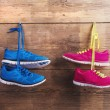 Two pairs of sneakers — Stock Photo #68964247