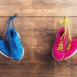 Two pairs of sneakers — Stock Photo #68964297