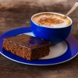 Blue Cup of coffee — Stock Photo #70288939