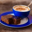 Blue Cup of coffee — Stock Photo #70289135