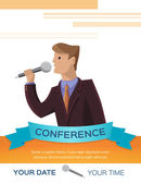 Conference template illustration — Stock Vector