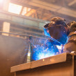 Man welding in a factory — Stock Photo #72517857