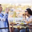 Couple enjoying a meal together — Stock Photo #72523125