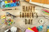 Happy father's day sign — Foto de Stock