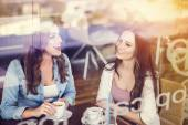 Two women in cafe — Stock Photo