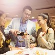 Man and girls in bar — Stock Photo #76036221