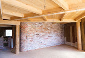 Interior of a new unfinished house — Stock Photo