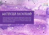 Hand drawn watercolor background — Stock Vector