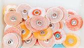 Dental polishing discs — Stock Photo