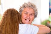 Elderly hug — Foto de Stock
