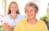 Elderly home care — Stock Photo