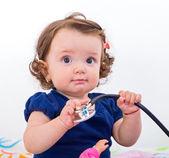 Adorable baby girl — Stock Photo