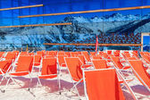 Mountain deckchairs — Stock Photo