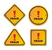 Fraud - warning sign — Stock Vector