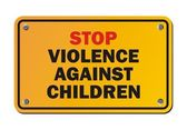 Stop violence against children - protest sign — Stock Vector