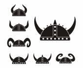Barbarian helmet - pictogram — Stock Vector