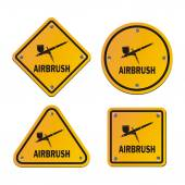 Airbrush signs - road signs — Stock Vector