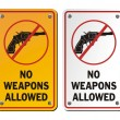 No weapons allowed - revolver icons — Stock Vector #67842835