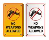No weapons allowed - notice signs — Stock Vector