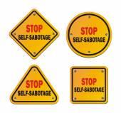 Stop self-sabotage - roadsigns — Stock Vector