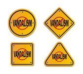Stop vandalism - roadsigns — Stock Vector