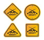 Airsoft roadsigns — Stock Vector