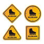 Rollerblading signs — Wektor stockowy