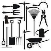 Gardening tool equipment — Stock Vector