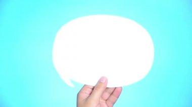 Bubble speech with light bulb — Stock Video