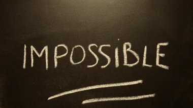 Impossible turns to possible. Changing the word impossible to possible. — Stock Video