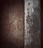 Old grunge brown background with rusty plate. Design template. Design site — Stock Photo