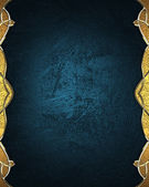 Abstract blue background with gold edges with gold trim. Design template. Design site — Foto Stock